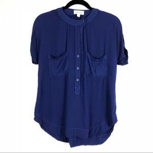 Anthropologie Cloth & Stone Blue Tshirt